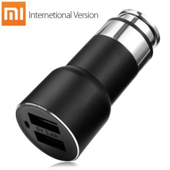INTERNATIONAL VERSION Original Xiaomi Roidmi 2S Bluetooth V4.2 Car Charger Hands-free Call FM Transmitter 5V 2.4A Output APP Real-time Monitor for iOS / Android - intl