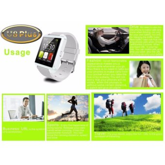 UWATCH U8 Bluetooth Android Smart Mobile Phone Wrist Watch(Red) - - 5