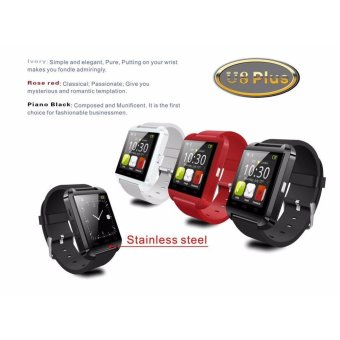 UWATCH U8 Bluetooth Android Smart Mobile Phone Wrist Watch(Red) - - 2