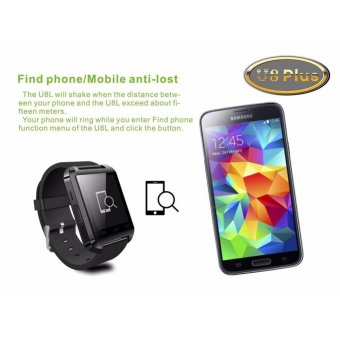 UWATCH U8 Bluetooth Android Smart Mobile Phone Wrist Watch(Red) - - 3