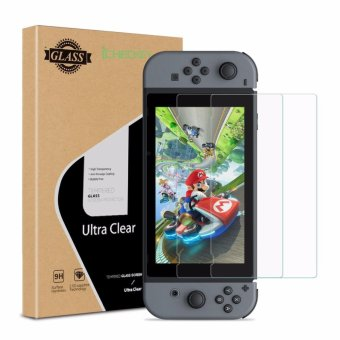Harga ICHECKEY Nintendo Switch 2017 Screen Protector 2-Pack 2.5 D Ultra Clear Tempered Glass Screen Cover - intl