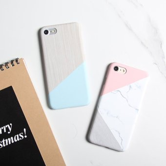 Harga Literary fresh and simple spell color iphone6s geometry couple Plus matte hard mobile phone shell apple 7