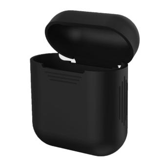 Harga For Apple AirPods Case Portable Headphone Box Cover Skin Silicone Shock Proof Carrying Case Protection Sleeve for Apple AirPods Wireless Earphone Box Black - intl