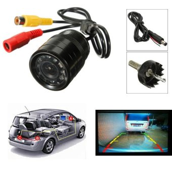 Harga Hole Waterproof 9 LED Night Vision CMOS Car Rear View Reverse Parking Camera - intl