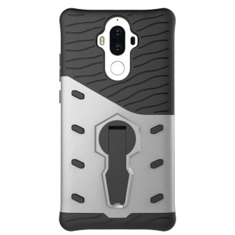 Harga Heavy Duty Shockproof Dual Layer Hybrid Armor Defender Full Body Protective Cover with 360 Degree Rotating Kickstand Case for huawei mate 9 - intl