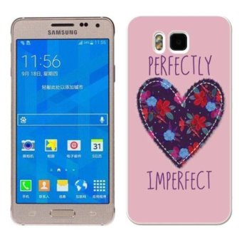 Harga PC Plastic heart shape flowers Case for Samsung galaxy Alpha pink (EXPORT)