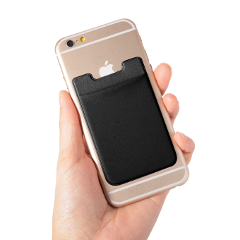 Elastic Lycra Cell Phone Wallet Case Credit ID Card Holder Pocket Stick On 3M Adhesive AC419/420/421/422/423+ - 2