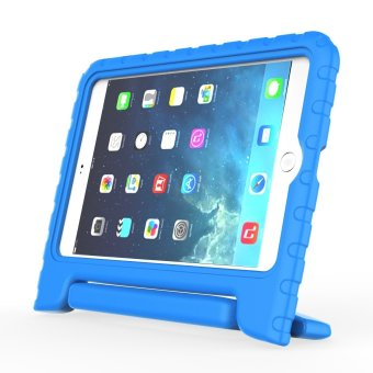 Harga Welink Apple iPad Air 2 EVA Case / Shockproof Case Light Weight Kids Case Super Protection Cover Handle Stand Case For Apple iPad Air 2 (Blue)(Export)