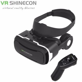 Harga VR Shinecon 4.0 3D VR Headset Virtual Reality Glasses with Controller 2.0 - intl