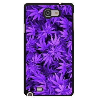Harga Y&M Cell Phone Case For Samsung Galaxy Note 2 Beautiful Purple Leaves Printed Cover (Multicolor)