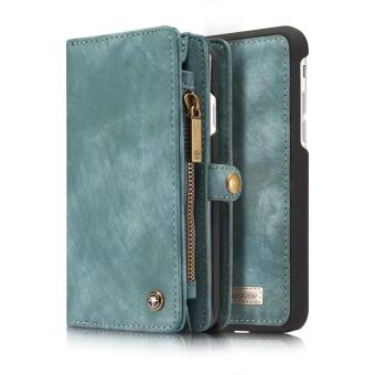 Harga iPhone 6/6S case,Welink 2017 New 2 in 1 Detachable Assembled Wallet Flip Style Retro Leather Card Photo Slot Holder Protective Cover Case for Apple iPhone 6/6S (4.7'') [Model:08](Green) - intl