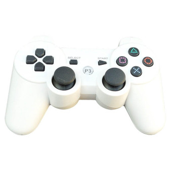 Harga Wireless Bluetooth Dualshock PS3 Remote Controller (White)