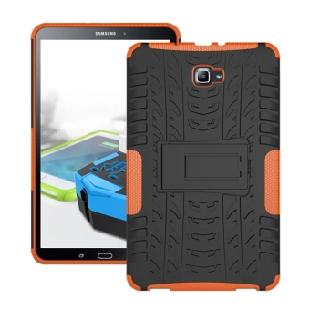 Harga Moonmini Hybrid Combo Body Armor High Impact Shockproof Case Cover For Samsung Tab A (2016) 10.1 inch SM-T580 (Orange)
