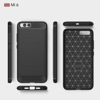 Harga For Xiaomi Mi6 Case Silicone Soft TPU Brushed Carbon Fiber Texture Back Cover Mi 6 Luxury Protective Phone Case - intl