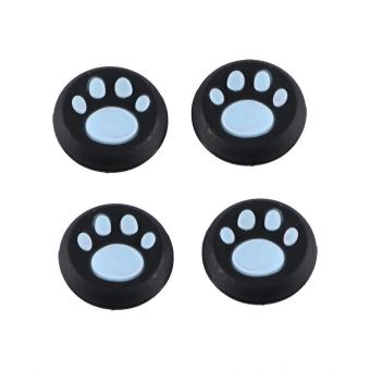 Harga 4Pcs Luxurious Paw Silicone Gamepad Thumb Stick Joystick Caps Cover For PS3 PS4 XBOX (Blue) - intl