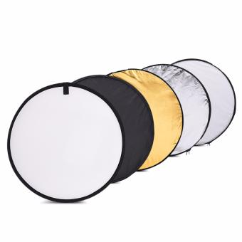"Harga Andoer 24"" 60cm Disc 5 in 1 (Gold, Silver, White, Black, Translucent) Multi Portable Collapsible Photography Studio Photo Light Reflector (EXPORT)"