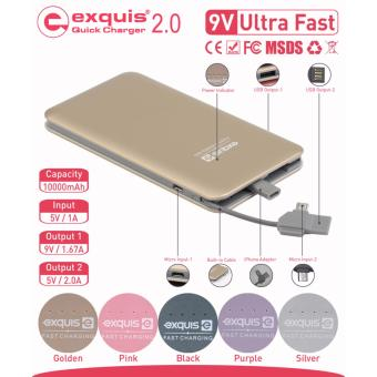 Harga EXQUIS 10000MAH FAST CHARGE POWER BANK (GOLD)(Gold 5001-10000mAh)