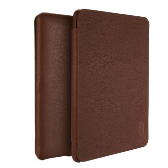 Harga LENUO Ultra Thin Flip Cover Case Soft Leather Cell Phone Cases For Amazon Kindle Paperwhite 1 / 2 / 3 (Brown) - Intl