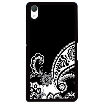 Harga Y&M Cell Phone Case For SONY Xperia Z2 Black Floral Printed Cover (Multicolor)