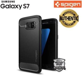Harga Spigen® Rugged Armor Case for Galaxy S7 Plus 100% Authentic - intl