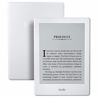 Harga Amazon Kindle 8th Gen White 2016 (Latest, With Special Offers, USA Edition) + 1 x Glossy, 1 x Matt Screen Protector (USA/Special Offers)