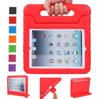 Harga Welink Apple iPad 2/3/4 EVA Case / Shockproof Case Light Weight Kids Case Super Protection Cover Handle Stand Case For Apple iPad 2/3/4 (Red)