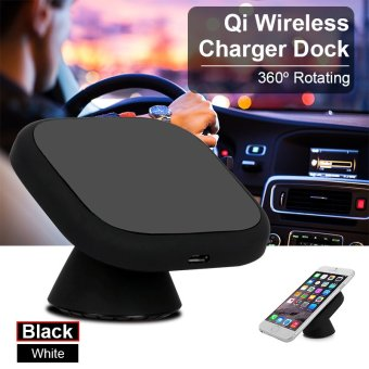 QI Wireless Car Charger Charging Pad Mount Dashboard Smartphone Holder BC560 (Black)