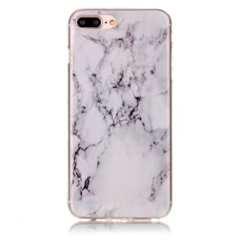 Harga Fit Shockproof Soft TPU Back Case Cover For iPhone 7 Plus (Marble)
