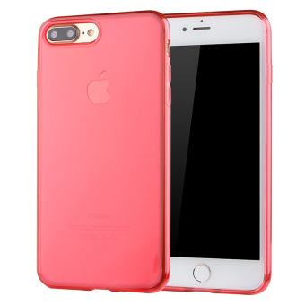 Ultra Thin Soft TPU Back Case Cover For iPhone 7 Plus (Red) - intl