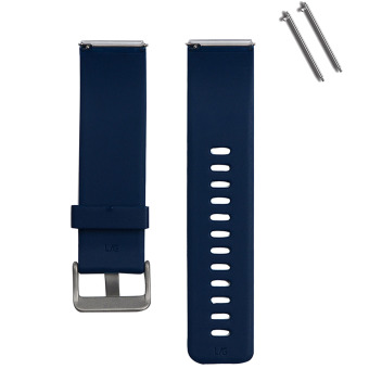 Harga Silicone Replacement Watchband Smart Bracelet Watch Band Strap with Metal Claps for Fitbit Blaze Smart Fitness Tracker Smartband Blue