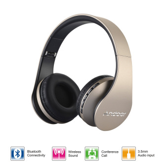 Harga Andoer LH-811 Digital Wireless Bluetooth Headphone(gold)