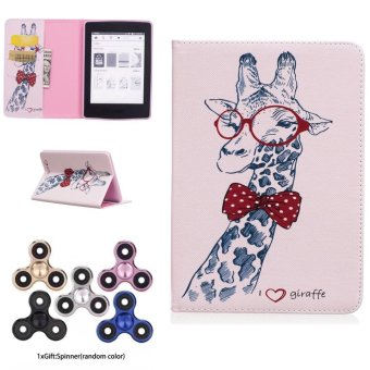 Harga OEM Tablet Case For Amazon Kindle Paperwhite 1 2 3 with Card Pockets Gentle Giraffe Gift Fingertip Spin Top Random Color - intl