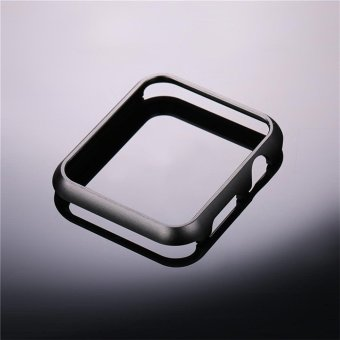 Hard Aluminum Plated Protective Bumper Shell for Apple Watch SERIES 1 42mm All Model Cover Case(Black) - 2