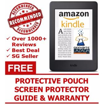 Harga Amazon Kindle 8th Gen 2016 + Kindle Protective Pouch + Screen Protector (USA/Special Offers) - White