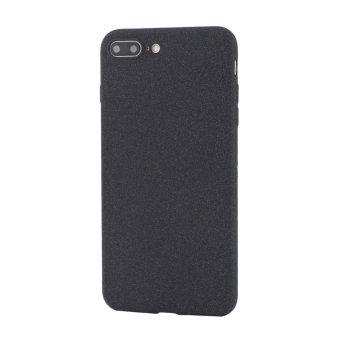 Ultra-Thin Shockproof Phone Protective Cover Soft TPU Matte Back Shell Case For iphone 7Plus-Black - intl