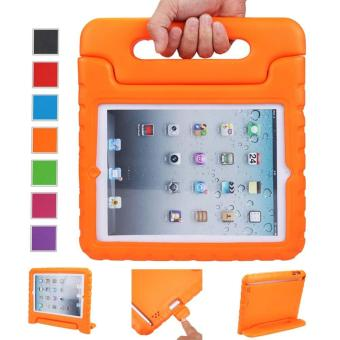 Harga Welink Apple iPad 2/3/4 EVA Case / Shockproof Case Light Weight Kids Case Super Protection Cover Handle Stand Case For Apple iPad 2/3/4 (Orange)
