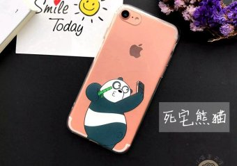 Harga We Bare bears mobile phone shell 5s apple iphone6 6splus 7 let's get naked bear cute cartoon lanyard