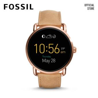 Harga Fossil Q Wander Display Light Brown Leather Smartwatch