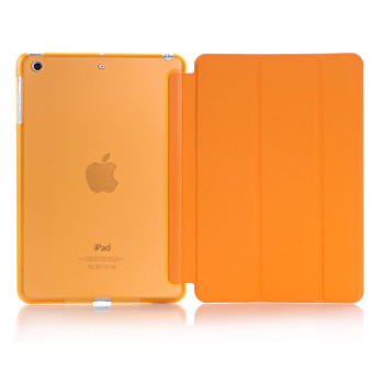 Harga New iPad 2017 iPad 9.7 inch / Ipad Air (ipad 5) case, Welink Ultra Slim Smart Cover PU Leather Case for Ipad Air (ipad 5) / New iPad 2017 iPad 9.7 inch (Orange) - intl