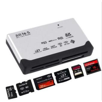 All iN 1 USB 2.0 Card Reader For Multi SD XD MMC MS CF SD TF Micro/Mini SD M2 Cards(White) - intl(White) - 3