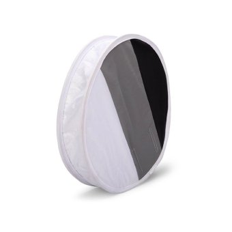 Harga VAKIND 31cm Round Flash Diffuser Softbox & Grey/White/Black Card Board White Balance