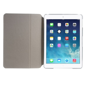 XINCUCO Impression Series Smart Leather Tablet Shell for iPad Air - Sea Lake Lines - 4