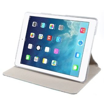 XINCUCO Impression Series Smart Leather Tablet Shell for iPad Air - Sea Lake Lines - 5
