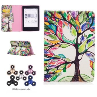 Harga For Amazon Kindle Paperwhite 1 2 3 Tablet Cases Cover with Card Pockets Colorful Life Tree Painting Gift Spinner Random Color - intl