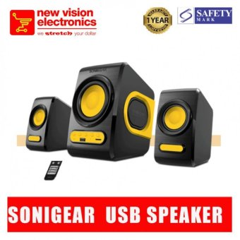 Harga Sonic Gear Quatro V 2.1 Speaker system with Super Bass and Remote.1 Year Warranty.