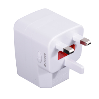 Harga Universal Travel Adapter for UK EU US AU Plug with USB in 150 Countries