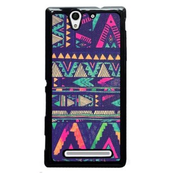 Harga Y&M Colorful Aztec Pattern Phone Case for SONY Xperia C3 (Black)