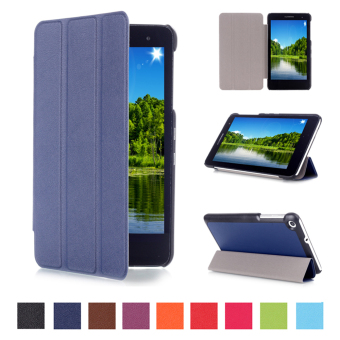 Harga For Huawei MediaPad T1 (T1-701u) 7.0 inch Case Moonmini PU Leather Flip Case with Stand Function - Dark Blue