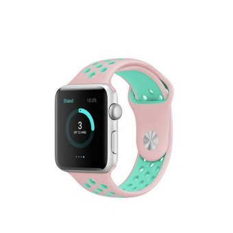 Harga Brand sport Silicone band strap for apple watch bracelet wrist band watch nike series 1 and series 2 - intl