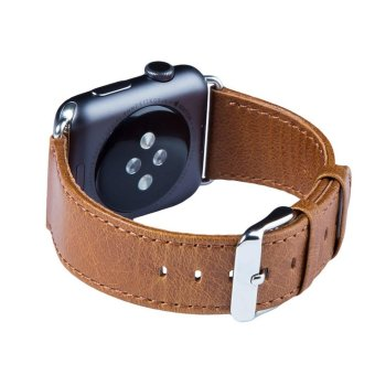 Harga Catwalk Apple Watch band, 38 / 42 mm Genuine Heritage Leather Strap - intl